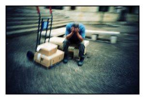 ouvrier fatigué
