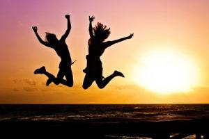 sauter de bonheur